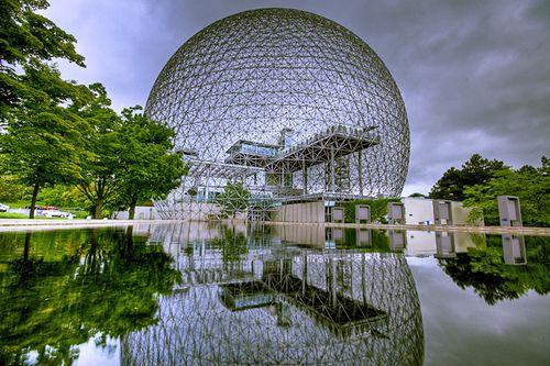 The Biosphere, Parc Jean-Drapeau. Designed by Richard Buckminster Fuller for the 1967 World Fair.