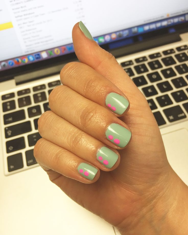Dots on nails inspiration