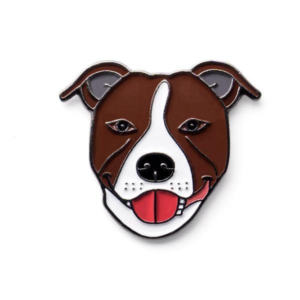 Staffordshire Bull Terrier Staffy Lapel Pin Badge