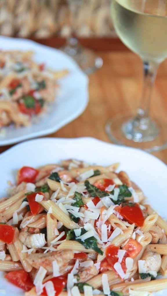 Tomato-Basil Pasta Salad w/ Cajun Chicken   Divas Can Cook