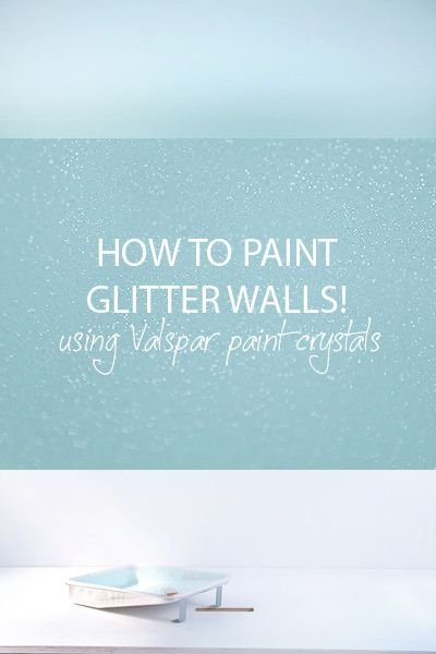 The REAL way to get a glitter wall: Paint additive to create glitter in whatever color of wall/ceiling paint you want. Dries flat so you can paint over it with no bumps.