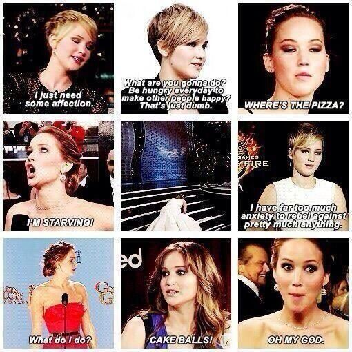 She is so hilarious!!! --Jennifer Lawrence!