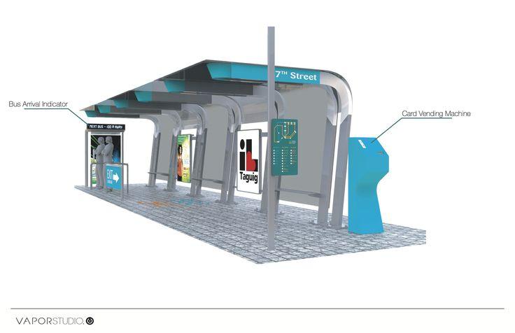 Bus Stop design by Vapor Studio Asia