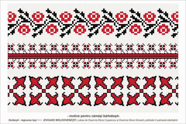 romanian traditional motifs - MOLDOVA - Iasi, sat: Golaesti