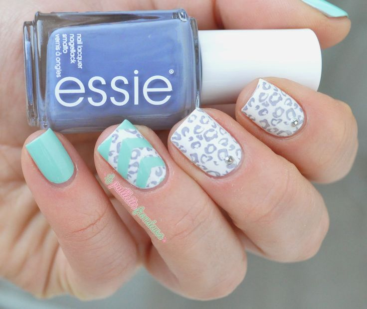 Essie petal pushers and blossom dandy cheetah print and chevron