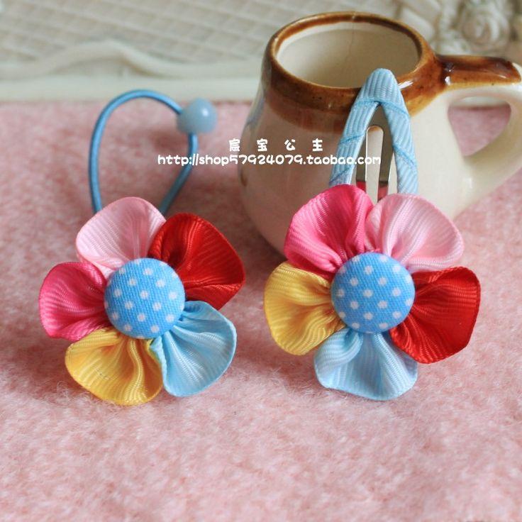 Корейская версия Детские аксессуары для волос волосы волосы младенца резинкой веревка аксессуары кольцо девушки волосы красочные подсолнечника веревка шпильки / поддержки - Taobao