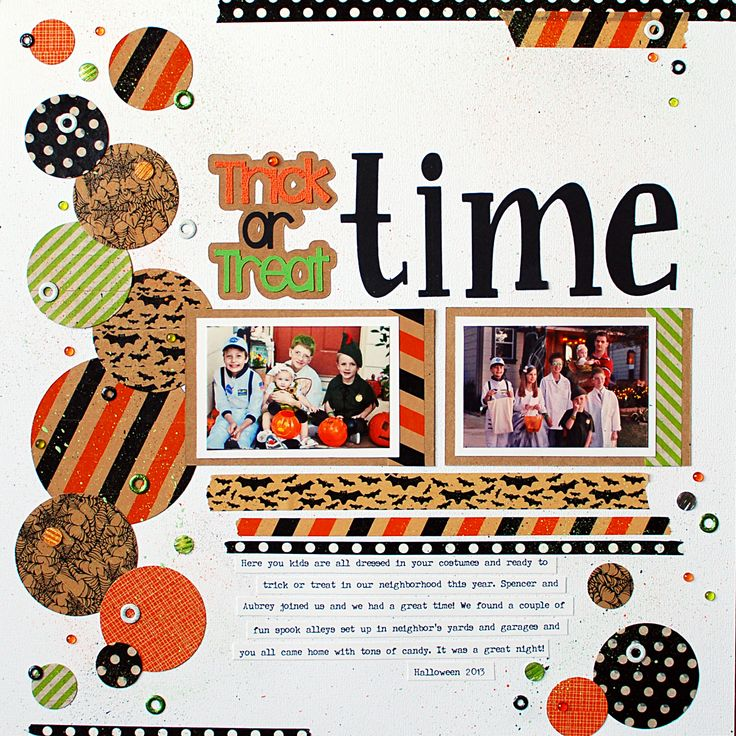 "#papercraft #scrapbook #layout #6 ""Trick or Treat Time"" by Ginger Williams"