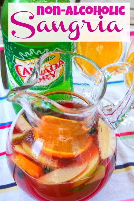 Non Alcoholic Sangria Punch for a baby shower