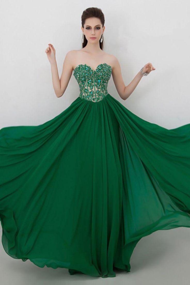 Vestido Longo Verde Escuro Para Formatura 2016 Coloridos 17