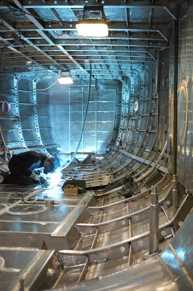 The inside of a hull #sailing #yacht #aluminium