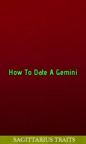 How to date a gemini
