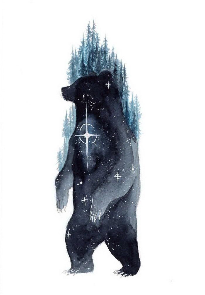 Медведь стилистика картинки