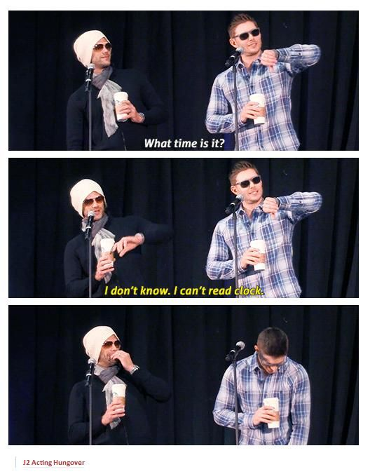 [GIFSETS] J2 Acting hungover Gold Panel - NJcon 2015 || Jensen Ackles || Jared Padalecki