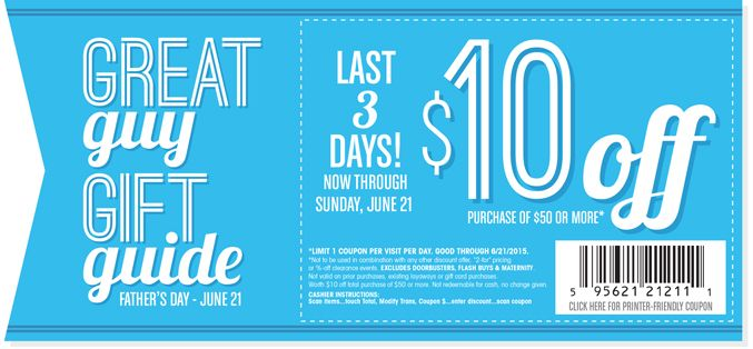 Pinned June 20th: $10 off $50 at #Gordmans #coupon via The #Coupons App