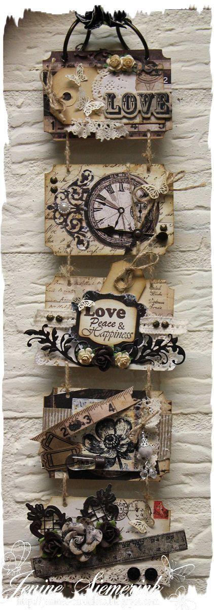 Jenine's Card Ideas: Let's Get Bizzee - Harmonicaboekje 5delig - Engraver