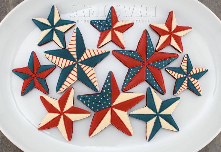 images of patriotic cookies | different-variety-of-patriotic-barn-star-cookies.jpg