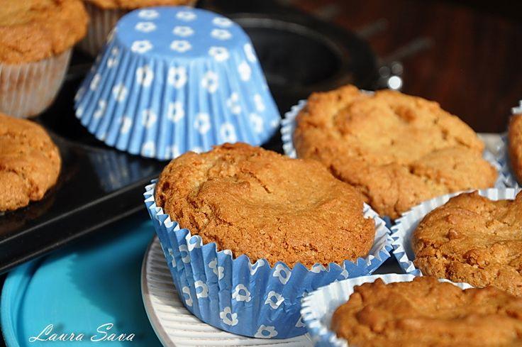 Muffins de post cu unt de arahide