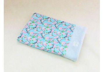 Baby Blanket Titmouse of Provence - 100%ORGANIC COTTON - Naturissimi