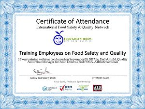 Food Safety Fridays Sponsor Offers - Food Safety Fridays Sponsor Offers - International Food Safety and Quality Network