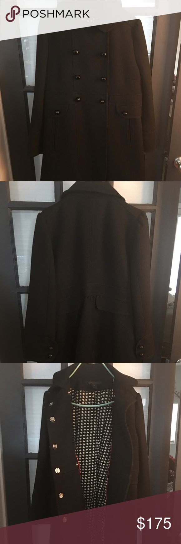 Marc Jacobs peacoat Marc Jacobs Black wool peacoat-  size L Marc Jacobs Jackets & Coats Pea Coats