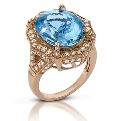 Le Vian's Santa Maria Aquamarine® set in Strawberry Gold®