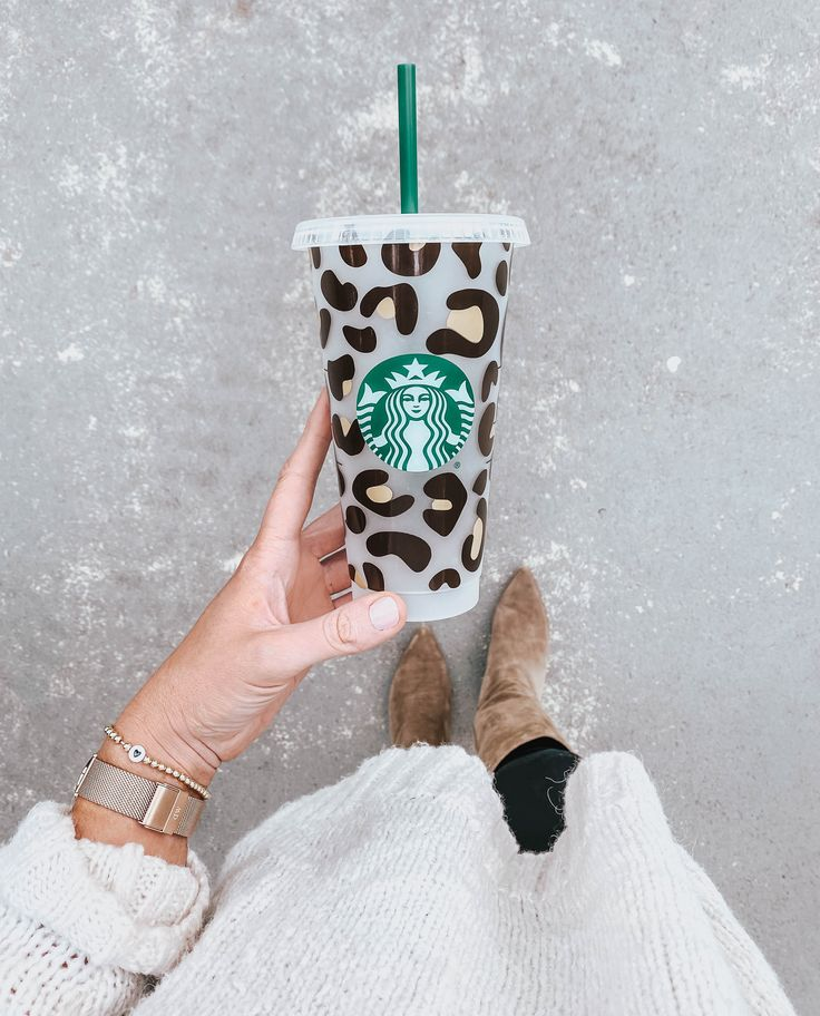 How to apply leopard print pattern to a starbucks tumbler