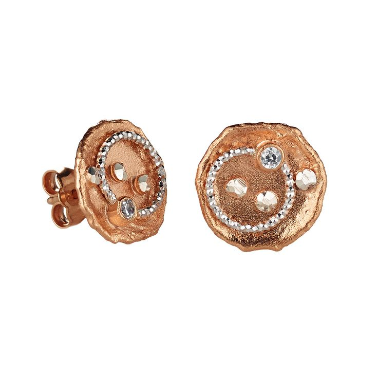 Oxette Rose Gold  Silver 925 Earrings - Available here http://www.oxette.gr/kosmimata/skoularikia/st.silver-rose-plated-earrings-546l-1/    #oxette #OXETTEearrings #jewellery