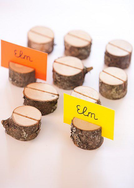 50 Rustic Place Card Holders  Wood Card Holders Wedding