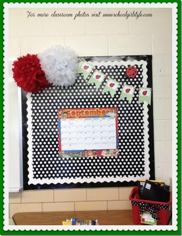 Ladybug bulletin board ideas www.schoolgirlstyle.com