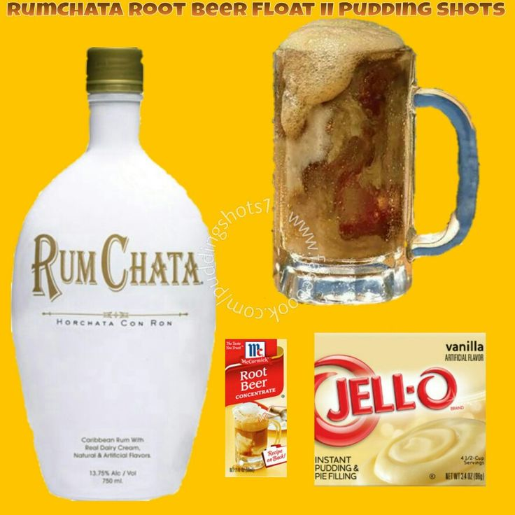 RumChata Root Beer Float II Pudding Shots.  See full recipe and more in the Flavors/Recipe's Photo Album & Time Line on www.facebook.com/puddingshots1
