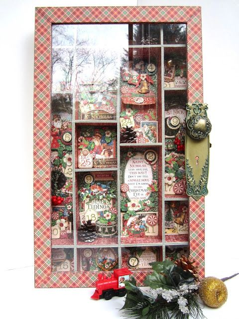 Graphic 45 St. Nicholas Christmas countdown by Maria Cole.
