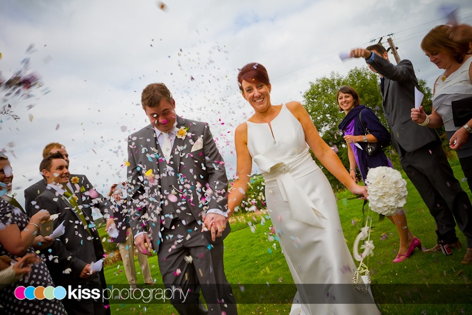 confetti shot on the grounds