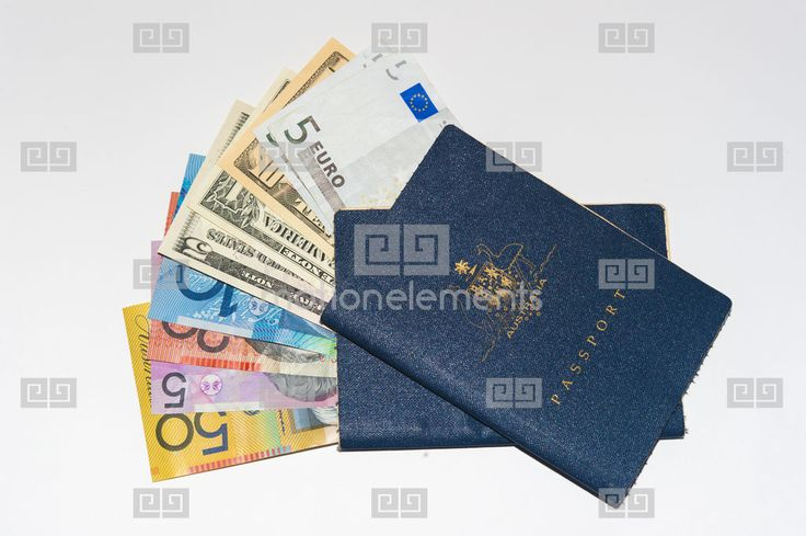 2 Well Worn Australian Passports And Currency From US, Europe And Australia. Cop Stock Footage | Royalty-Free Stock Photo Library | 10343143