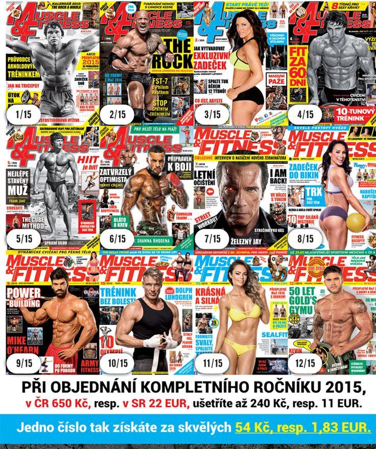 Kompletní ročník MUSCLE&FITNESS 2015 se slevou. Možnost objednat ZDE http://www.muscle-fitness.cz/index.php?option=com_content&view=article&id=13691:akcia-m-f-z-roku-2015-so-zlavou&catid=557:nekategorizovano&lang=sk