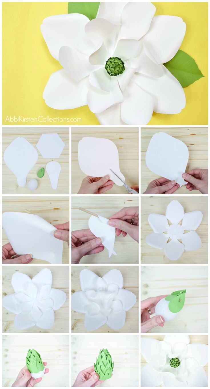 Giant Paper Magnolia Templates The Best Tutorials Bloggers Group Bibit Bunga Hibiscus Bicolor Striped How To Make Magnolias Rustic Southern Wedding Decor Ideas Diy Backdrop Flowers