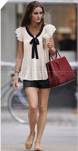 White Ruffle Sleeve Bow Tie Front Chiffon Blouse - Sheinside.com ... cute shirt