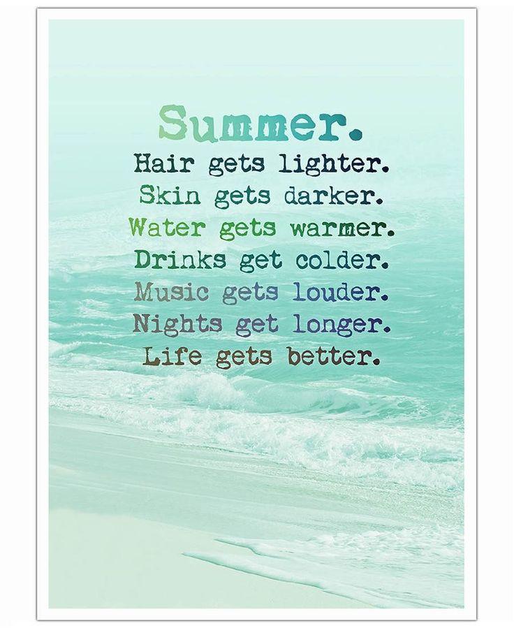 Summer VON Monika Strigel now on JUNIQE! #poster #kunstdruck #sommer #spruch #strand #neu #deko #jung #frech #bild #mint #hellgrün #türkis #willich