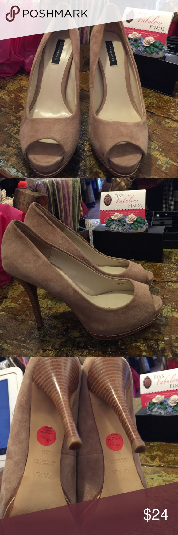 Zara Perfect suede neutral pumps that are in perfect condition Zara Shoes