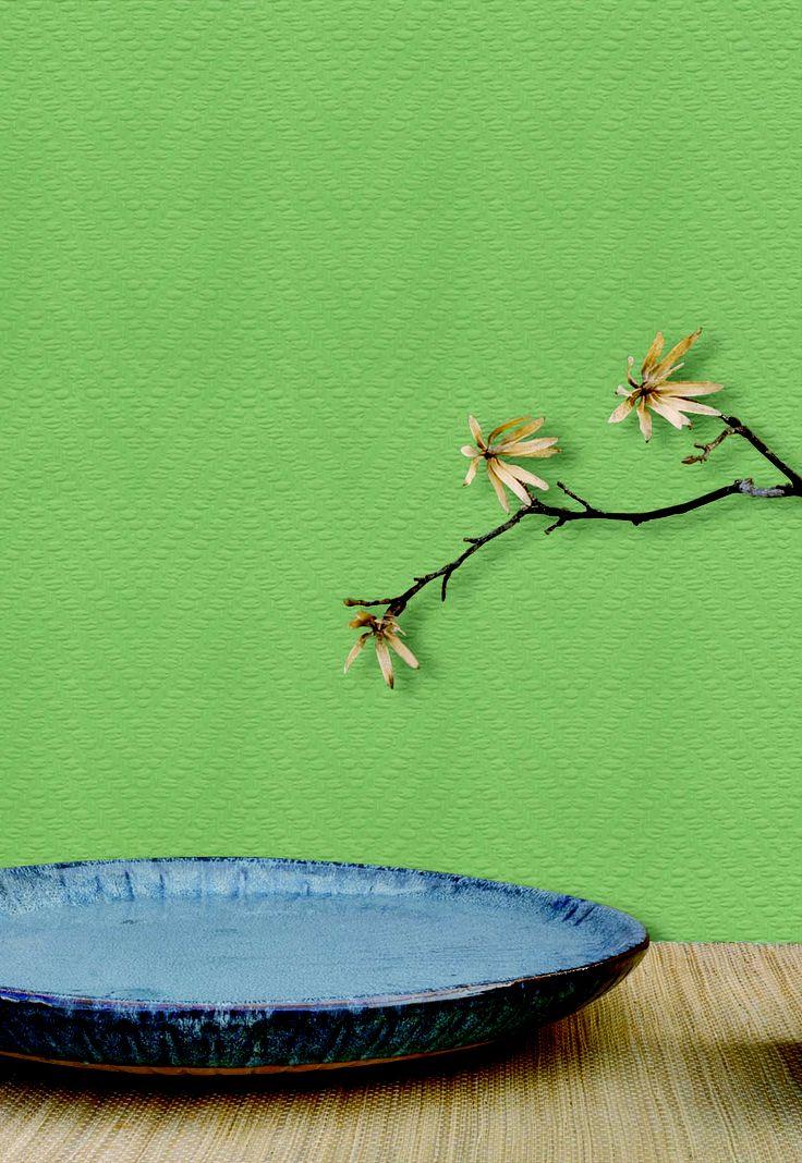 Empapelado verde - Papel de parede