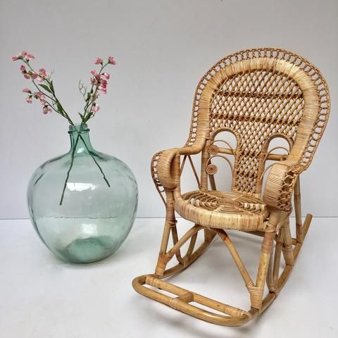 childs wicker rocking chair sale vintage peacock kids for lowes resin
