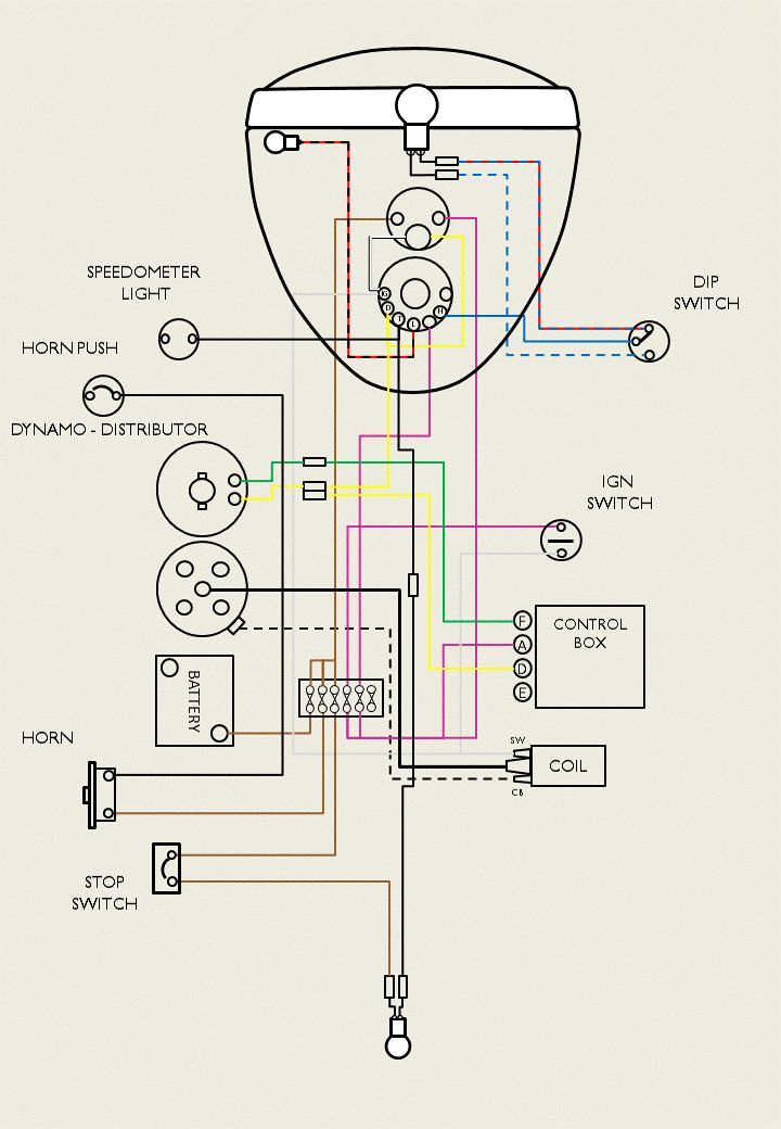 Suzuki Lt230 Wiring Diagram together with 1981 Yamaha Moped Wiring Diagram further 1980 Suzuki Fa50 Wiring Diagram together with Bsa A65 Wiring Diagram in addition Yamaha Ag 200 Wiring Diagram. on suzuki fa50 wiring diagram