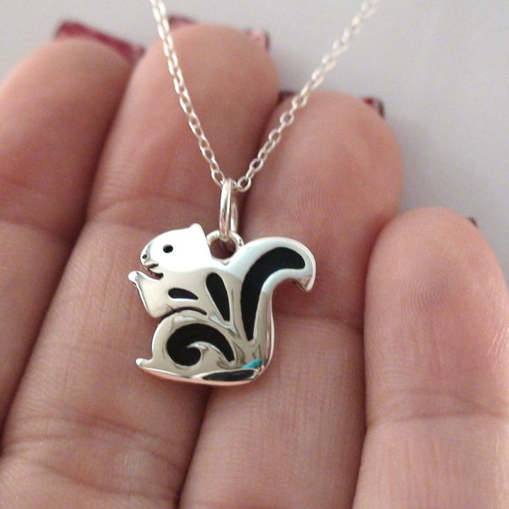 FashionJunkie4Life - Silver Squirrel Charm Necklace