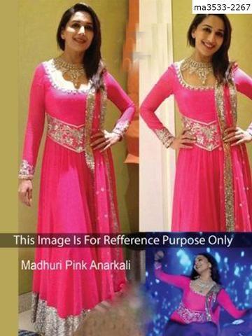 MAYLOZ E-COMMERCE-Women's Beautiful Pink Color Georgette Salwar