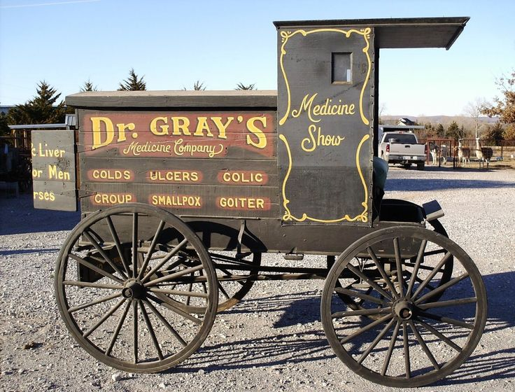 Light Medicine Wagon  -  Horse Drawn