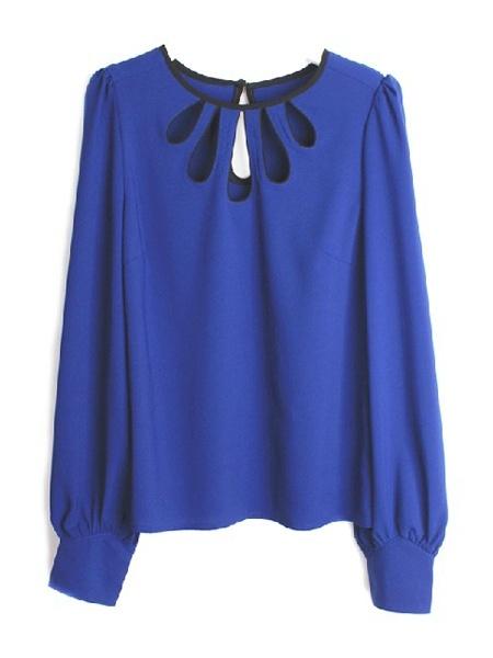 Peacock Collar Puff Sleeve Shirt | Choies
