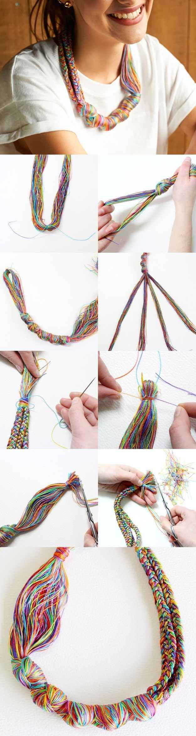 Embroidery Thread Necklace