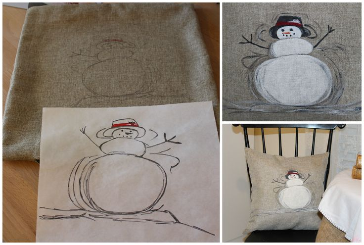 DIY180: Pottery Barn Inspired Snowman Pillow - Knock Off Holiday Tour