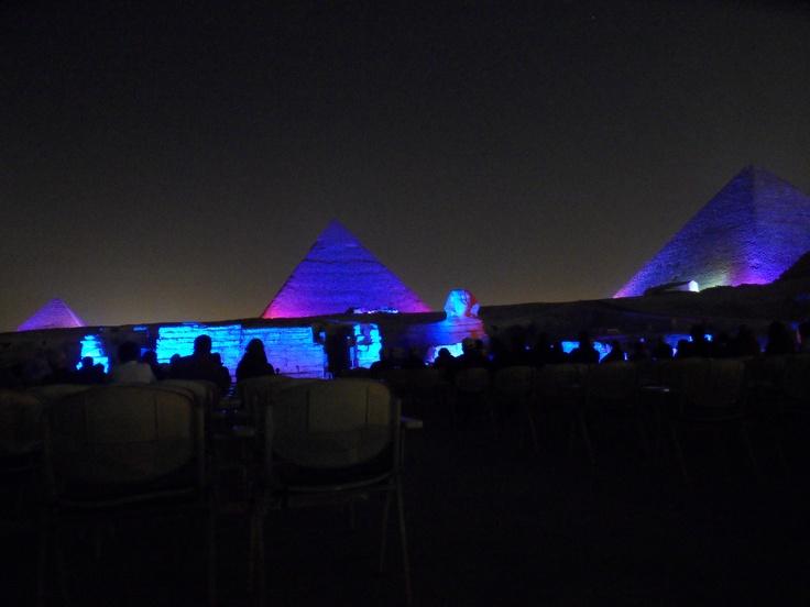 Giza by night