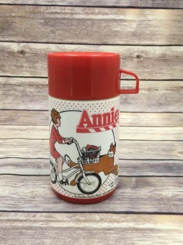 VINTAGE LITTLE ORPHAN ANNIE THERMO BOTTLE 1981 Aladdin Thermos Cup Insulated