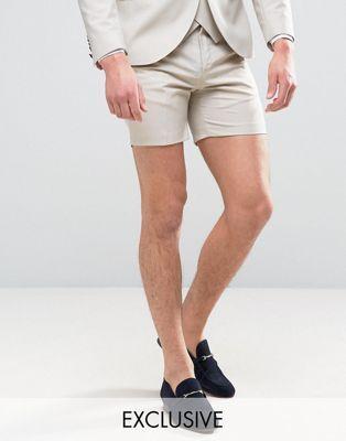 Noose & Monkey Super Skinny Wedding Smart Shorts